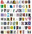 alphabet cut out paper vector image