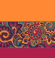 background with color strips and floral pattern vector image vector image