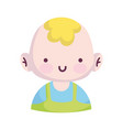 bashower cute little boy character announce vector image