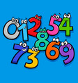 basic numbers cartoon characters group vector image vector image