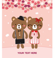 bear married vector image vector image