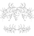 Black and white pattern of vine grapes for page vector image
