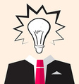 Bulb Icon over Suit vector image vector image