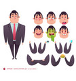 business characters elements for web design vector image vector image