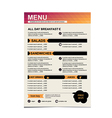 Cafe menu restaurant template design vector image vector image