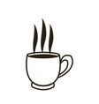 cartoon coffee cup beverage fresh icon vector image