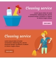 Cleaning Service Advertisement Cards Set Poster vector image vector image