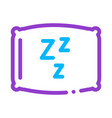 cozy pillow for sleeping icon outline vector image