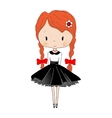 Cute little girl Beautiful princess Toy isolated vector image vector image