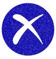 delete icon grunge watermark vector image
