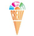 element emblem in form of ice cream vector image