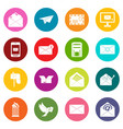 email icons many colors set vector image vector image