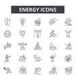 energy line icons for web and mobile design vector image vector image