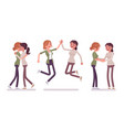 female close friends meeting greeting vector image