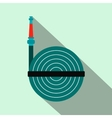 Fire hose winder roll reels flat icon vector image