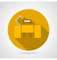 Flat icon for office desk vector image vector image