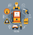 fuel pump concept vector image vector image