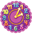 Funny clock for kids vector image vector image