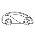 futuristic driverless car icon outline style vector image vector image