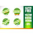 Gluten free Badge Logo vector image vector image