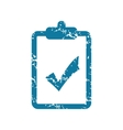 Grunge accepted document icon vector image vector image
