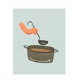 hand drawn abstract modern cartoon cooking vector image