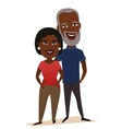 Happy black middle aged couple isolated vector image vector image