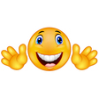 Happy emoticon smiley vector image vector image