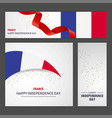 happy france independence day banner and vector image