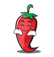 happy red chili character cartoon vector image vector image