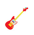 isolated guitar toy vector image vector image