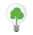 Lamp light bulb vector image vector image