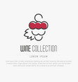 logotype of wine and wine making vector image vector image