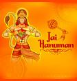 lord hanuman on abstract background for hanuman vector image vector image