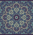 mandala flourish blue doodle decorative vector image vector image