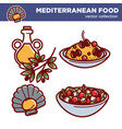 mediterranean food collection of tasty vector image vector image