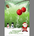 merry christmas background 4 vector image vector image