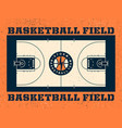 modern professional field for basketball in vector image vector image