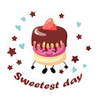 national day sweets greeting card chocolate vector image vector image