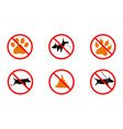 no dogs no dogs sign vector image