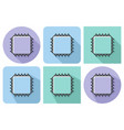 outlined icon of central processing unit with vector image
