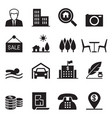 real estate icons set vector image vector image
