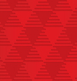 Red triangles on checkered background vector image vector image