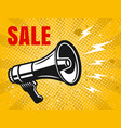 sale banner with megaphone vector image