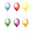 set balloons in different colors isolated vector image