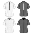 Short sleeve dress shirts vector image vector image