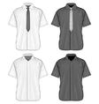 Short sleeve dress shirts vector image vector image