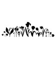 spring flowers collection hand drawn floral vector image