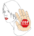 Stop violence vector image vector image