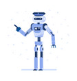 successful robot businessman with a tie vector image vector image